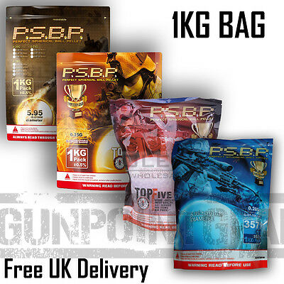 G&G Competition Grade PSBP BB's 1KG Bag .2g 0.25g .28g .3g Airsoft Free Delivery