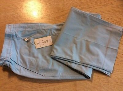 Lyle & Scott Ladies Capri Trousers Sky Blue Size 12 Bargain Price