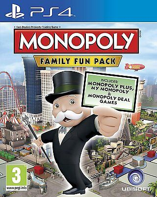 Monopoly Family Fun Pack PS4 PlayStation 4 Brand New Sealed Free P&P UK