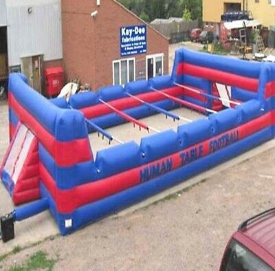 Human Table Football Inflatable with electric blower and poles