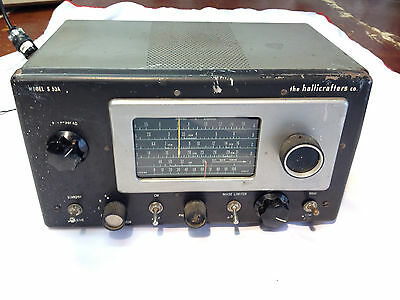 Vintage Hallicrafters S-53A AM & 4 Short Wave Tube Receiver Ham Radio