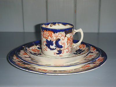 Rare ADDERLEY Ltd LISBON Imari 4 Piece Set Coffee Cup Saucer Sandwich Cake