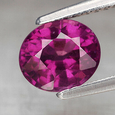 1.65 Ct. Oval Natural Neon Purple Rhodolite Garnet