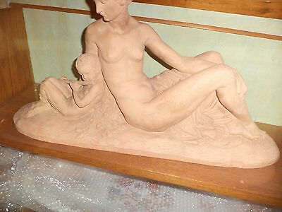 Joe Descomps Dit Cormier1869-1950 Sculpture Terre Cuite Art Deco