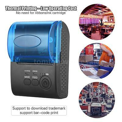 POS-5805DD 58mm BT Wireless Thermal Receipt Printer for iOS Android Windows
