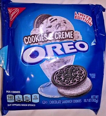 LIMITED EDITION Chocolate Sandwich OREO Cookies & Creme USA Import RARE 303g