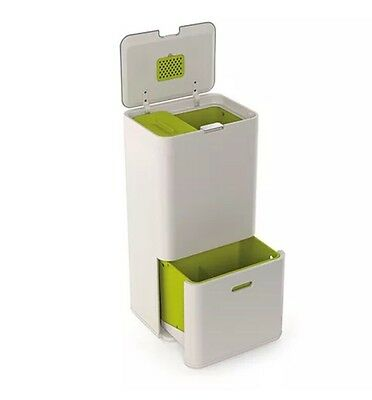 Joseph Joseph Intelligent Waste Separation & Recycling Unit 60L Totem Stone Bin