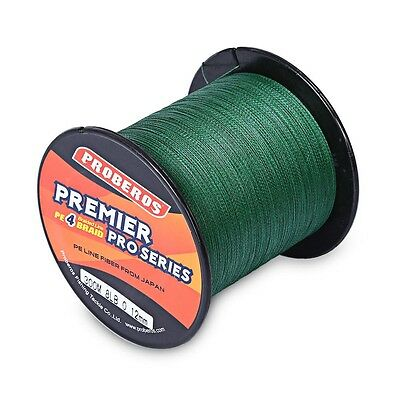 Green 300M Super Power Braided Fishing Line PE 4Strand, 6LBs-80LBs, High Quality