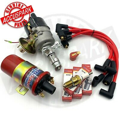 MGB Electronic Ignition service Pack Distributor, Coil, HT Leads & Sparkplugs