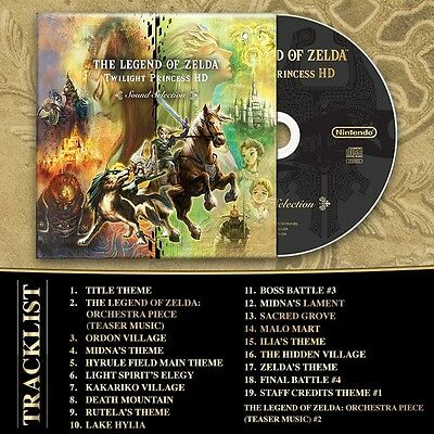 The Legend of Zelda Twilight Princess HD Soundtrack Cd Musique Bande Son