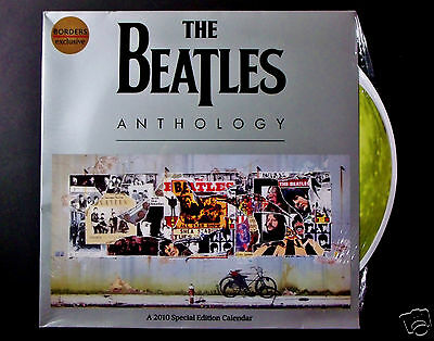 "The Beatles  Anthology Calendar + Bonus Complete 12"" x 36"" Fold-Out Cover Art SS"