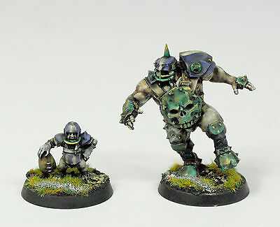 BLOOD BOWL  GW EXCLUSIVE STAR PLAYERS Ogre GRAK & CRUMBLEBERRY - PRO PAINTED