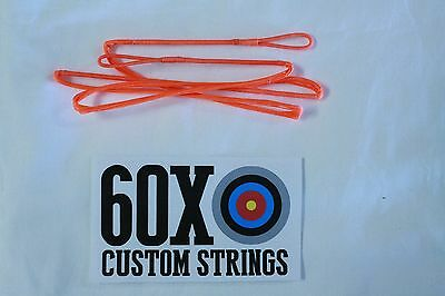 """58/"""" 8125G Flo Orange Recurve Bowstring by 60X Custom Strings Bow Traditional"""