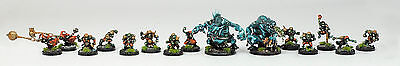 BLOOD BOWL WILLY MINIATURES Snotling GOBLIN TEAM w/ TROLLS x15 - Pro Painted