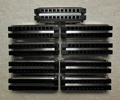 RARE SET of NINE Dual-Double Hohner Special 20 HARMONICA's-18 Total-Pro Player!!