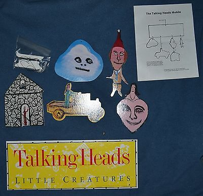 Talking Heads Little Creatures 1984 Promo Sire Records Mobile Dangler MINT