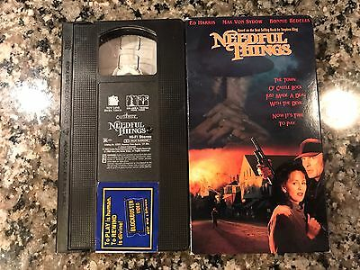 Needful Things Vhs! Stephen King Horror! Cujo Silver Bullet Salems Lot