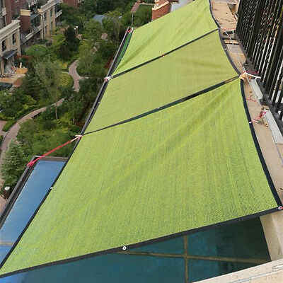 Sun Shade Sail Mesh Net Outdoor Garden Plant Cover Canopy Awning Many SizesGreen