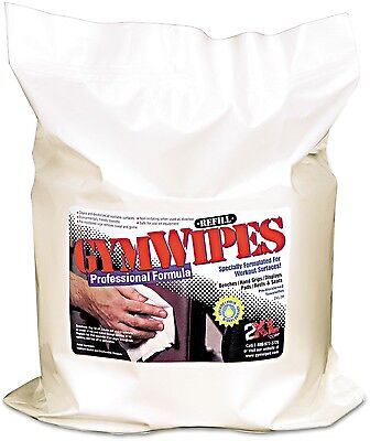 2XL - Antibacterial Gym Wipes Refill, 6 X 8, Unscented, 700/Pack, 4Packs/Carton