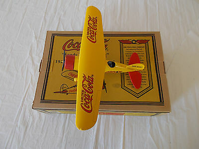 1994 Coca-Cola 1929 Lockheed Air Express Yellow Die Cast Plane Metal Coin Bank