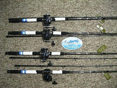 4Pk Shimano Tdr 8'0 Med Light Rod W/magda Pro Ma20Dx Reels Combo Walleye