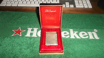 Accendino St Dupont  Silver Plated Lighter Working
