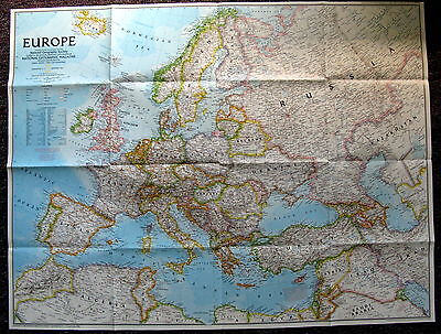 Europe 1992 & The New Europe   National Geographic Map / Poster December 1992