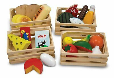 Melissa & Doug - Wooden Food Groups Educational Wooden Toy