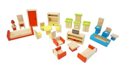 Fun Factory - Doll House Furniture Set 26pc Educational Wooden Toy