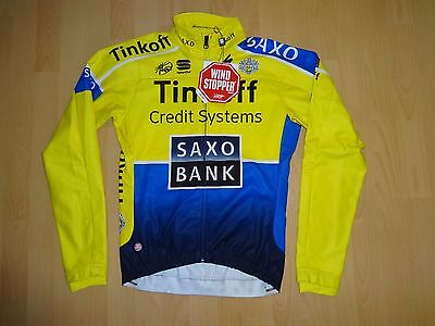 NEW Sportful TINKOFF SAXO BANK cycling Wind stopper Soft Shell Body fit jacket M