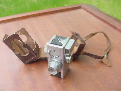 Steky Mini Spy Camera (For 16mm Film) Vintage W/Leather Case (1:3.5/F-2.5mm)