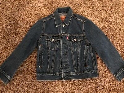 VTG Child's Levi's Red Tab Denim Jean Jacket #57511 Size Small Blue Excellent