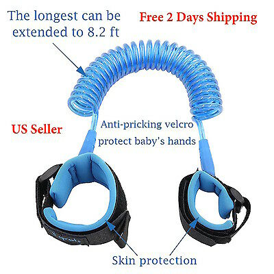 US Safety Harness Leash Anti Lost Wrist Link Traction Rope For Toddler Baby Kid