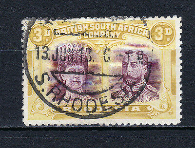 Rhodesia-1910/13.KGv 3d Double head. Perf 14. Fine used