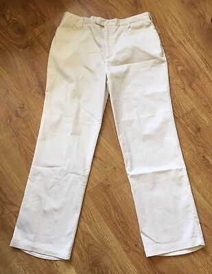 Nike Golf Ladies Size 32 UK 12 White Fit Dry Trousers (KB10)