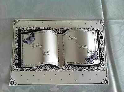 Card Craft Open Book Collection CD Template Ideal for Birth, wedding Birthdays