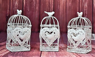 CLEARANCE Wedding Shabby Chic Heart & Bird Cage Candle Holder RRP £470 40PCS