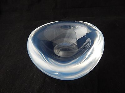 Vintage Orrefors Opaque or Opalescent Glass Selena Bowl - Not Signed