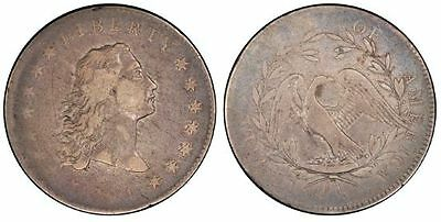 1794 Flowing Hair $1 Silver Dollar.  PCGS graded VF20.  Grade Verified by CAC.