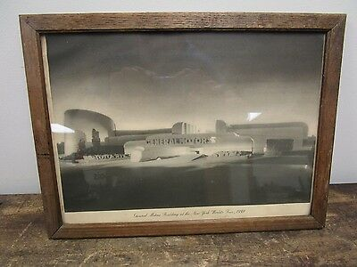 1939 New York World's Fair General Motors Building Chevroley Framed Print Sign
