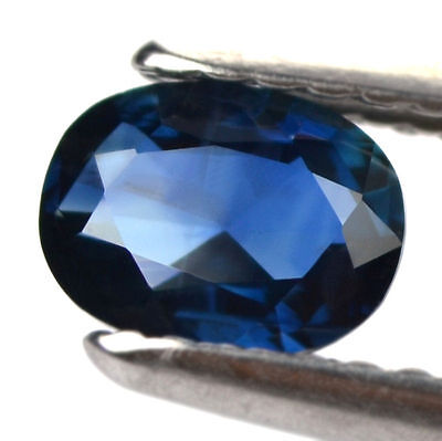 Certified Natural 0.68ct Blue Sapphire Oval Rose Cut SI Clarity