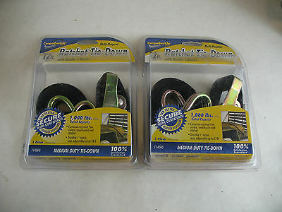 new Ratchet Tie-Down 12ft. load strap Cargo Buckle Lot of 2