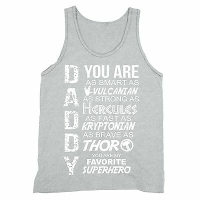 ca7da833 Father's Day Gift Tank Daddy Superhero shirt Dad Tanktop cool awesome funny