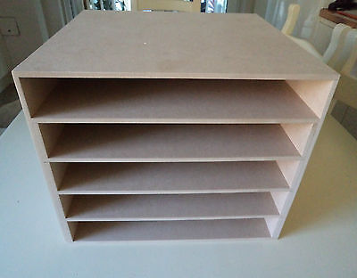 """Hand Crafted Freestanding Mdf Paper Storage unit (suitable for 12""""card/paper)"""