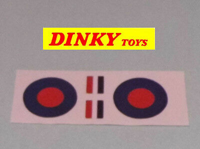 Dinky spitfire No.719 original style paper stickers set
