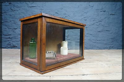 Victorian Wood & Glass Display Cabinet - Antique Gothic Curio Collection Display