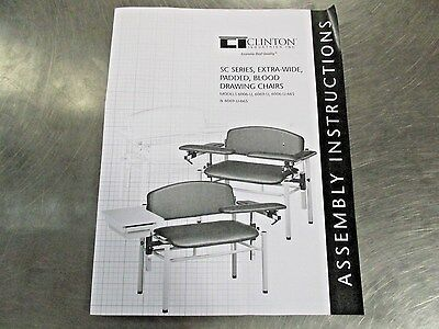 Clinton Industries 6069-U SC Series Blood Drawing Chair Extra-Wide Padded NEW
