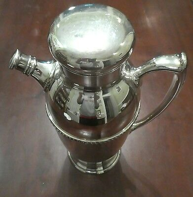 HUGE! Vintage/antique silver plate CANISTER very heavy 1960s?