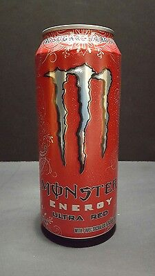 Monster Energy Drink 437 ml Zero Sugar Can Ultra Red