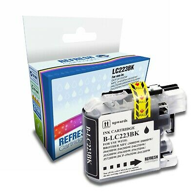 Refresh Cartridges Black Lc223Bk Ink Compatible With Brother Printers